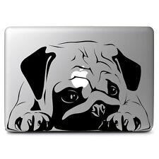 Black Big Pug Dog Decal Sticker Skin for Apple Mac book Air & Pro 13'' 15'' 17''