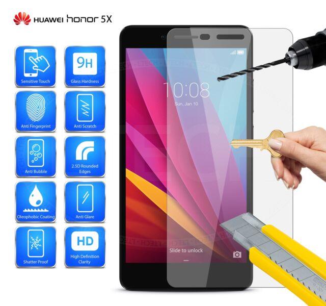 Huawei Honor 5x Kiw-l22 - Tempered Glass Screen Protector Anti Scratch HD
