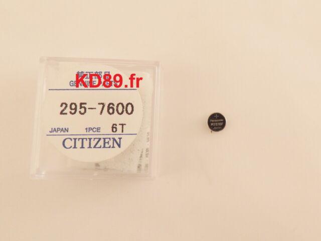 Citizen Capacitor Battery Solar PANASONIC eco drive 295-76 MT516F