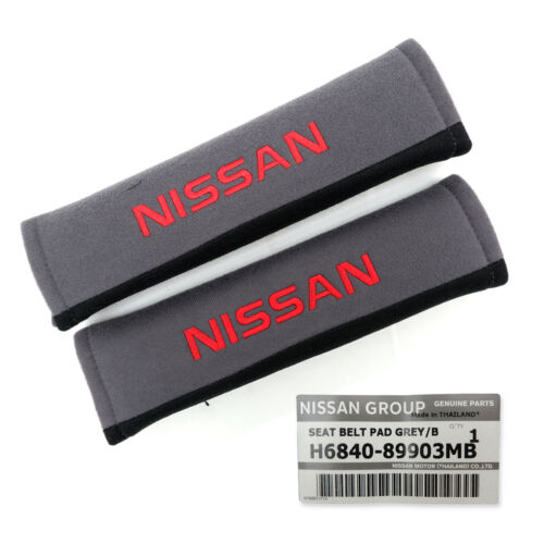 For Nissan Navara Np300 Juke March 1985 18 19 Set Seat Belt Cover Genuine Grey
