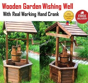 Image Is Loading Garden Wishing Well Planter Flower Bucket Patio Lawn