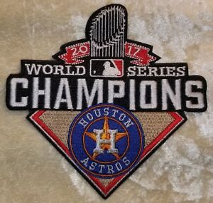 bb3e4b37 Houston Astros 2017 World Series Champions Iron /Sew On Embroidered ...