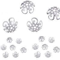 200 Pcs Wholsale Filigree Hollow Flower End Spacer Metal Bead Caps DIY Findings