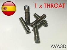 Barrel garganta hotend 1.75 mm acero 304 throat ptfe teflon e3d v6 v5 All inox