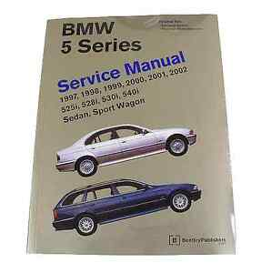 bentley service repair manual hardcover book for bmw 5 series e39 2 rh ebay com