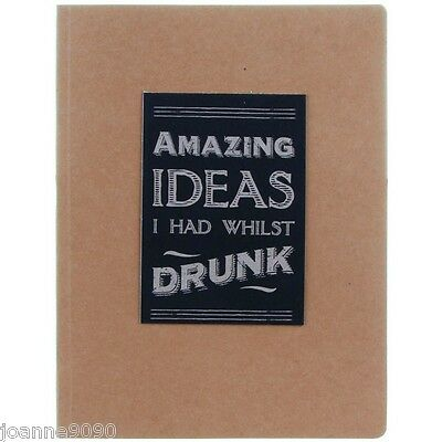 EAST OF INDIA AMAZING IDEAS I HAD WHILST DRUNK NOTE BOOK JOTTER RETRO FUNNY GIFT