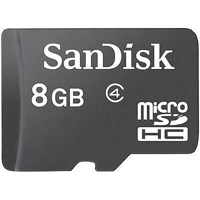 Lot 5 Pcs x 8G 8GB SANDISK MICRO SD SDHC 8G 8GB CARD CLASS 4
