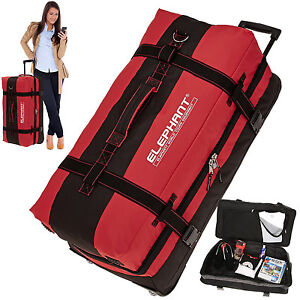 Reisetasche-Trolley-Elephant-80-XXL-Koffer-Reisegepaeck-Trolly-Rollen-12356-Rot