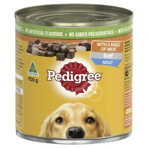 Pedigree Loaf With 5 Kinds Of Meat Adult Wet Dog Food Can 700g