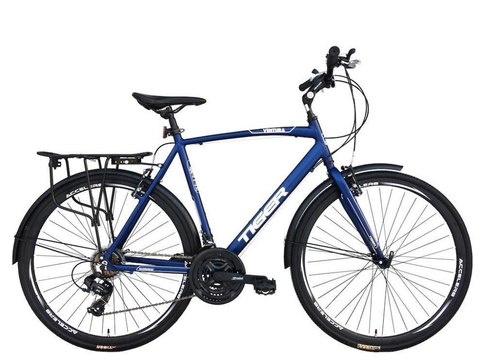 Tiger Ventura Mens Touring Trekking Bike Hybrid Alloy Frame 700c 21 Speed bluee