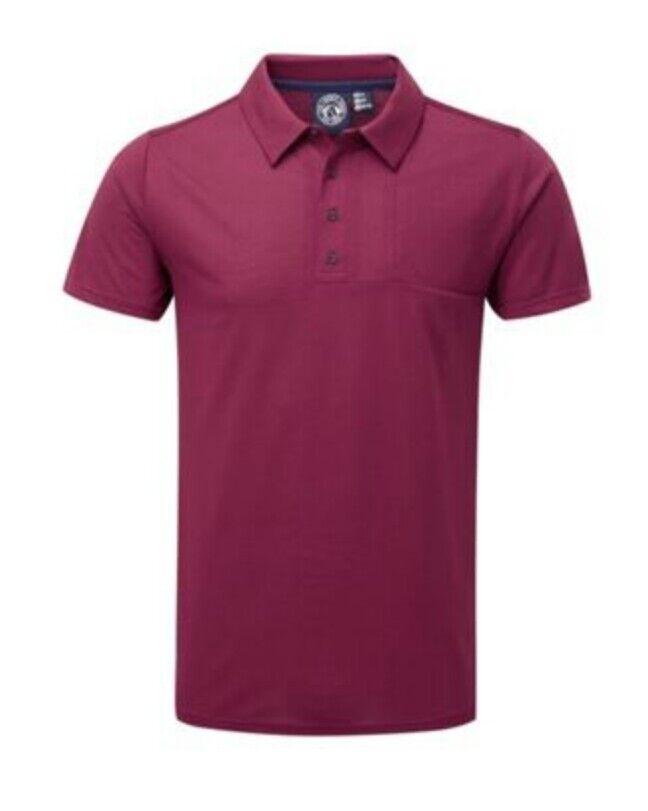 115TOG TWENTUY FOUR  Tog 24-Red plum volta dri release polo shirt RRP .99