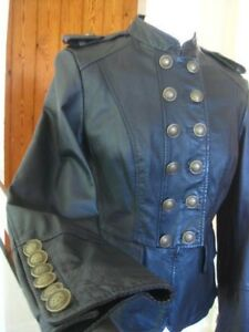 Next 14 Real Goth Steampunk Jacket 12 Uk Black Jacket Ladies Size Size Military dSpRxd