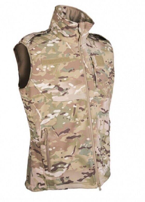Army Softshell Gilet MULTITARN MIMETICO Outdoor Tempo Libero CAMO Vest Taglia M