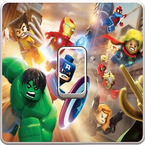 Marvel Avengers Light Switch Vinyl Sticker Decal for Kids Bedroom