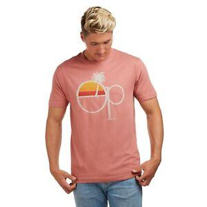 Ocean-Pacific-Sunset-Licencia-Oficial-Para-Hombre-T-Shirt-Terracota-S-XXL