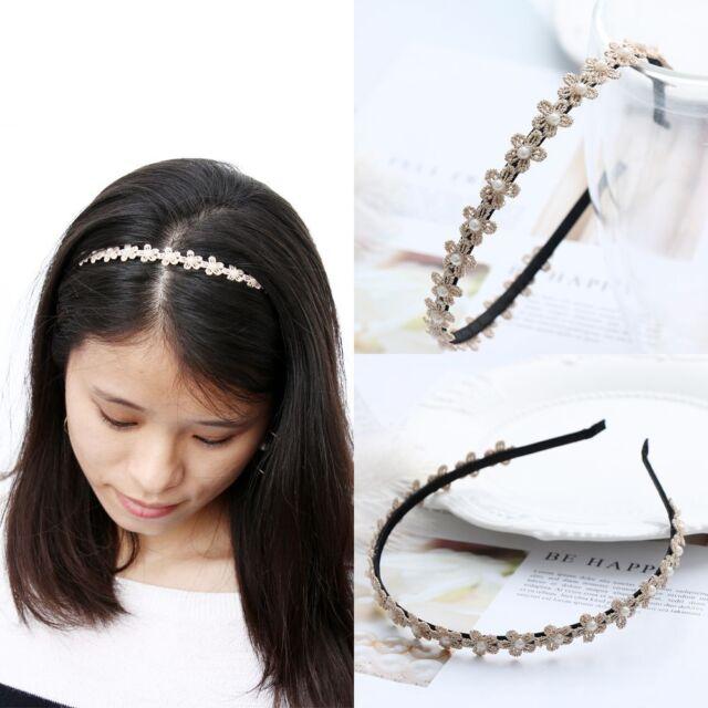 Makeup Hair Bands Women Headband Pearl Head Hoop Plum Blossom Headwear for  sale online  685a98f9ddb