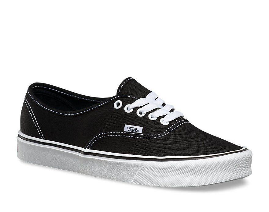 Auténticas VANS Zapatos Lite (NEGRO blancoO)   Reino Unido Distribuidor Oficial