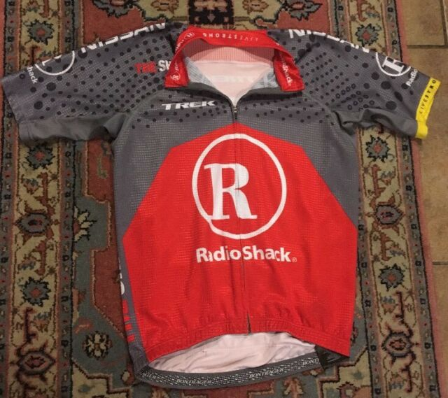 Livestrong Radio Shack Trek Cycling Bike Racing Athletic Jersey Small  BONTRAGER 8b5263d0f