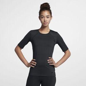 cf5202e0 Nike Women's Pro HyperCool Short-Sleeve Training Top 889618-011 ...