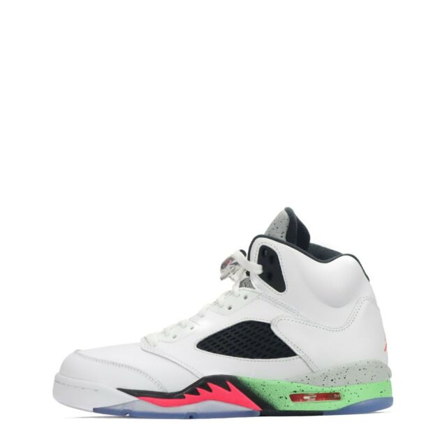 61e89096521b Nike Air Jordan 5 Retro White Infrared 23-poison Green 136027-115 ...