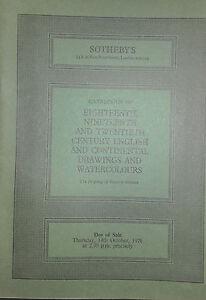 1976 Catalogue Di Vendita SOTHEBY'S London Century English E Coninental Drawings