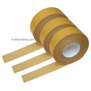 Double Sided Heavy Duty Cloth Antiplas Tape 3 X Rolls
