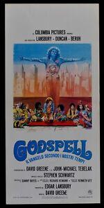 Plakat Godspell Lansbury Duncan Beruh Greene Tebelak Bayes Heimann Schwa N78