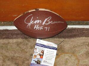 Jim-Brown-HOF-71-Autographed-Mini-Football-JSA-Certified