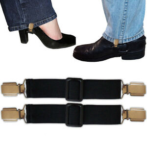 BOOT STRAPS PANT CLIPS for JEANS & PANTS +ADJUSTABLE SNKLE STRAP - INSIDE BOOTS