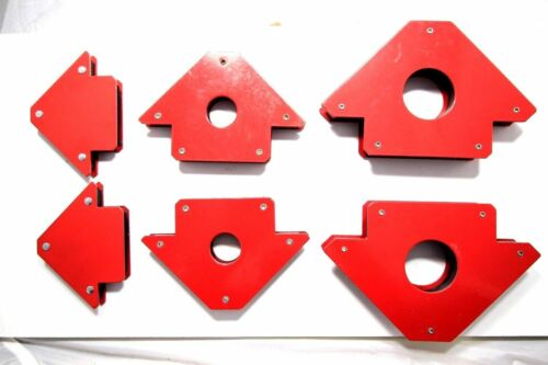 "6-pc Magnetic Welding Holders 3/"" 4/"" 5/"" Strong Hold DIY 3 Angle Arrow Welding"