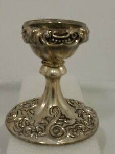 Godinger-Silver-Art-Co-VTG-7-8-034-034-Taper-034-Candle-Holder-Ornate-Design-Art-Nouveau