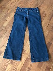 Women-s-J-Crew-Wide-Leg-Jeans-Size-6