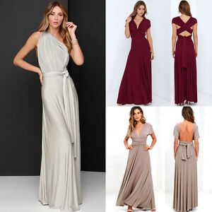 Womens-Bridemaid-Gown-Convertible-Multi-Way-Wrap-Evening-Party-Long-Maxi-Dress