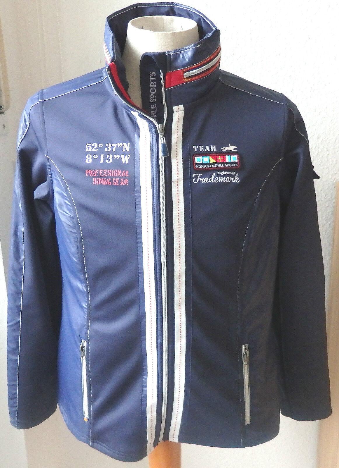 Schockemöhle Sports Softshell chaqueta, azul, talla s, modelo Shannon, reitjacke
