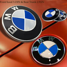 RED /& BLACK CARBON 82MM FRONT /& 74MM BACK BADGES EPOXY RESIN FOR BMW Pair