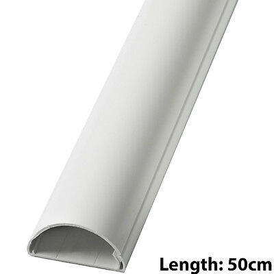 Cable de altavoz de 16mm X 8mm Blanco Cubierta Conducto//Trunking-AV//TV Wall 5m 5x 1m