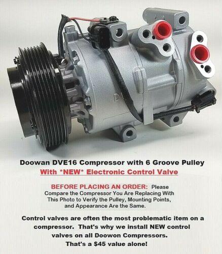 "Kia Sportage Tucson  2.4L  Doowon DVE16   AC Compressor With /""NEW/"" Control Valve"