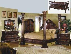 Image Is Loading Mcferran B9099 Ek Monaco King Size Canopy Bedroom