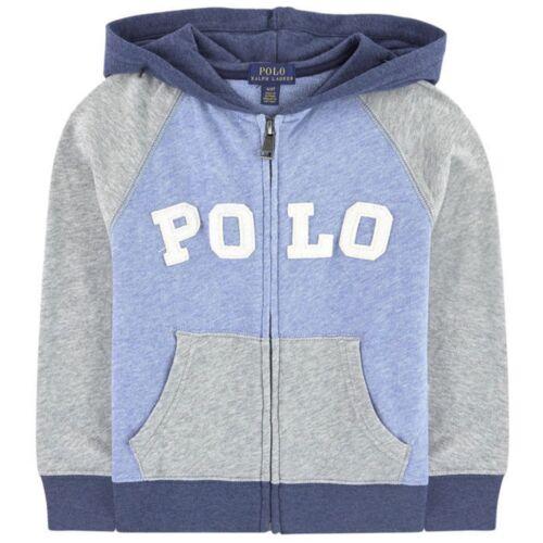 NWT Ralph Lauren Polo Boys Colorblocked Full Zip Hoodie Sweatshirt