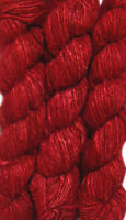 1 Quality Red Color Rercycled Soft Silk Sari Knit Yarn 100 gms