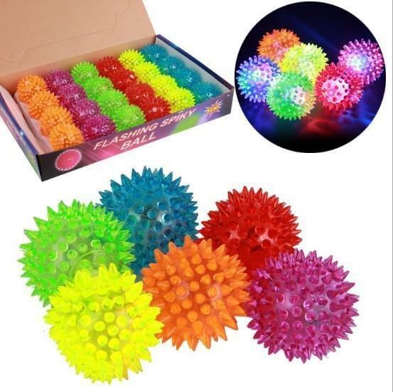 Flashing Light Up Spikey High Bouncing Balls Novelty Sensory Hedgehog Ball  HOCA