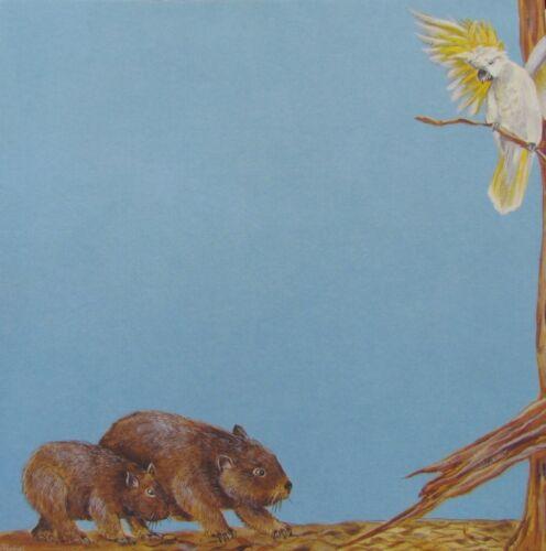"8x8/"" Scrapbook Paper Australian Animal Themes Wombat /& Cockatoo"