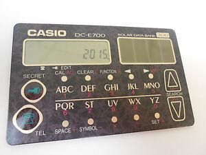 CASIO SOLAR DATABANK CARD CALCULATOR DC-E700BK SLIM DESIGN DC-E700 ...