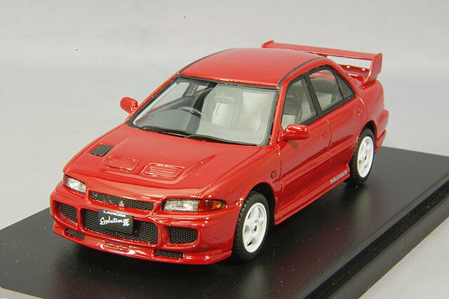 1 43 Hi-Story Mitsubishi Lancer GSR Evolution III 1995 Monaco Red HS149RE