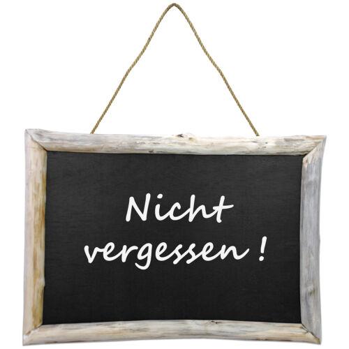 Wandtafel mit Holzrahmen 70x50cm Holztafel Schreibtafel Kreidetafel Memoboard