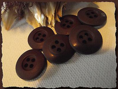 5 BOUTONS Nacre naturel 23 mm 2,3 cm  2 trous Button sewing