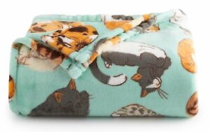 The Big One Oversized Soft Chonky Cats Throw Blanket 5 X 6 Ft Aqua Ebay