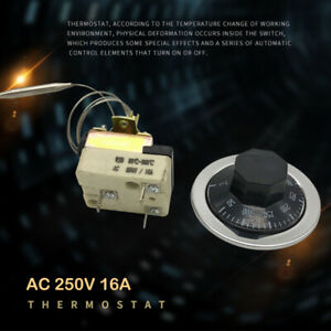 Dial-Thermostat-Temperature-Control-Switch-For-Electric-Oven-AC-250V-16A-50-300