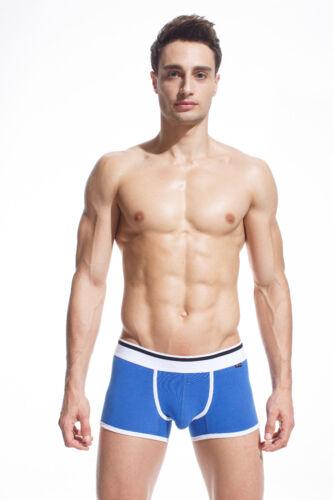 Xuba Solid Men/'s Boxer Soft Briefs Underpants Knickers Cotton Underwear Blue M
