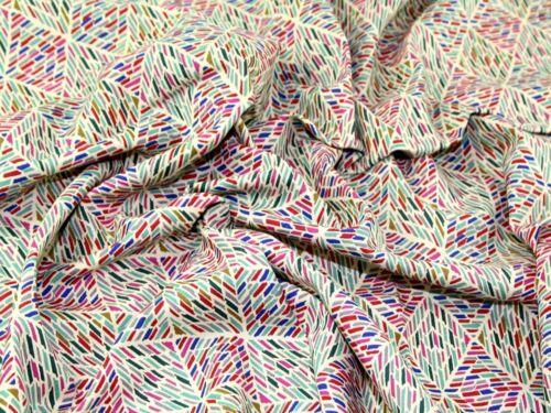 PH-FURN001-M Geometric Print Cotton Canvas Dress Fabric
